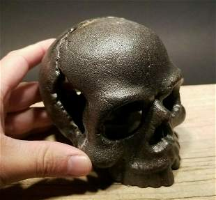 ron Steel Skull Paperweight