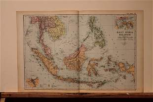 1892 Map of East Indies