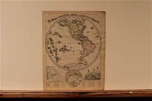 1852 Map of the Western Hemisphere