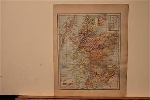 1886 Map of Scotland