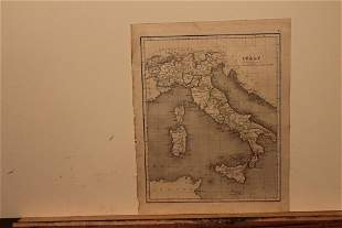 1859 Map of Italy