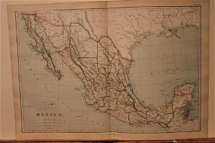 1889 Map of Mexico