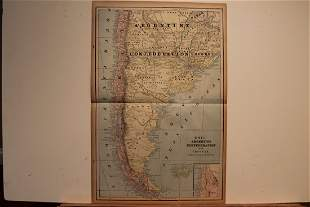 1893 Map of Argentina