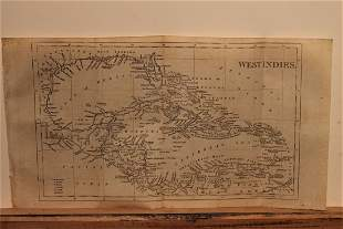 1801 Map of West Indies