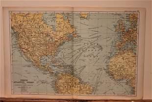 1892 Map of the North Atlantic Ocean