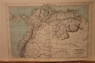 1889 Map of Venezuela