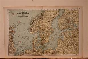 1892 Map of Baltic and North Sea
