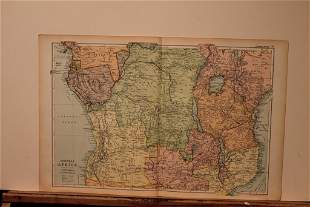 1892 Map of Central Africa