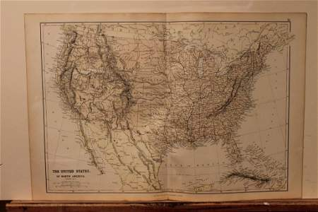 1882 Map of the United States