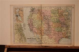 1892 Map of the US Western States
