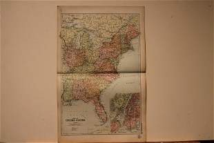 1892 Map of the US Eastern States