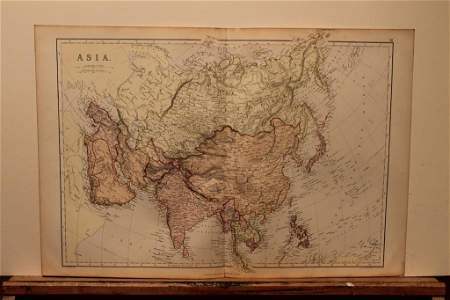 1882 Map of Asia