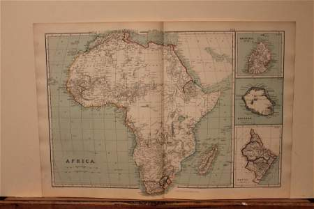 1886 Map of Africa