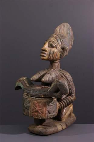Yoruba Olumèye polychrome cutting carrier - Nigeria -