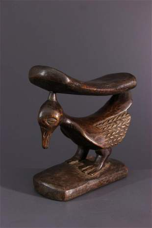 Yaka wood neck support - DRC Congo - African Art Tribal