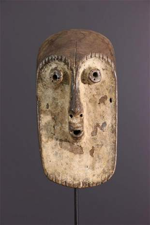Bukota Lengola wooden mask - DRC Congo - African Art