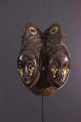 Baoule Nda two-sided wood mask - RCI Ivory Coast -
