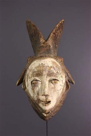 Punu / Lumbu wood mask - Gabon - African Art Tribal Art