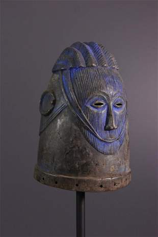 Igala Agba wooden helmet mask - Nigeria - African Art