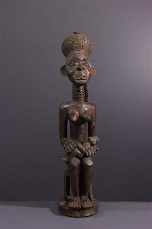 Motherhood wood statue Chokwe / Lwena - Angola -