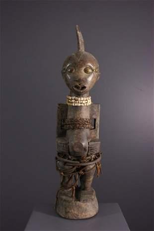 Songye Nkisi fetish reliquary - DRC Congo - African Art