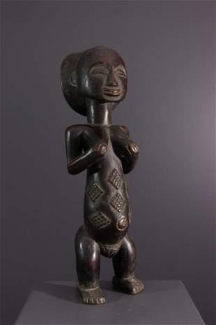 Mikisi Luba wood figure - DRC Congo - African Art