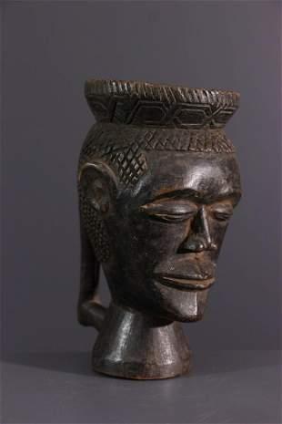Anthropomorphic Kuba Lele cup - DRC Congo - African Art