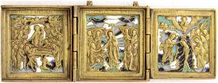 Triptych with three Feasts