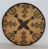 Large Yavapai Woven Basketry Bowl/tray Ca 1930s