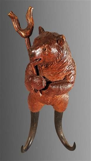 Black Forest Bear Whip Holder
