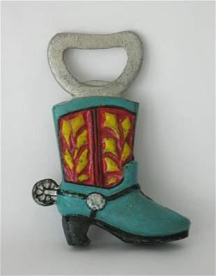 Cast Iron Cowboy Boot Bottle Opener.