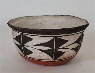Acoma Pueblo Pottery Bowl Ca 1920s
