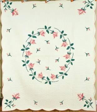 30's Rose Applique Quilt