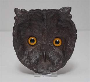 Antique Owl Cast Iron Tip Tray or Desk Accessory