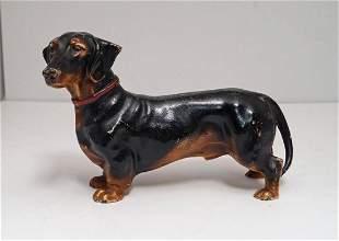 Antique Dachshund Dog Cast Iron Hubley Doorstop