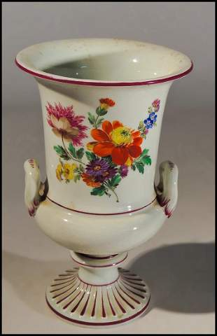 Campana Shaped Meissen Vase