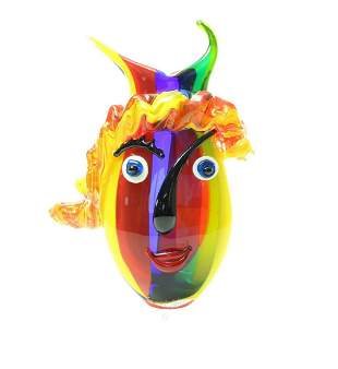 An abstract glass vase - Murano style - Clown vase