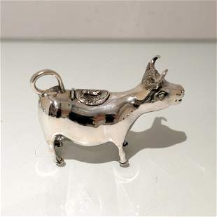 Early 20th Century Modern Silver Cow Cream Jug Germany
