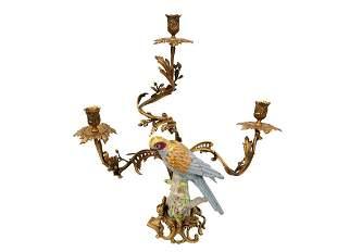 XXL candlesticks - Hollywood regency parrot