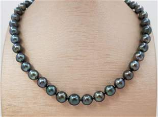 9x11 mm Shimmering Tahitian Pearls - 14 kt. Gold -
