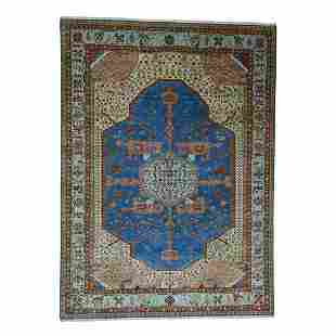 Pure Wool Vegetable Dyes Bakshaish Hand-Knotted
