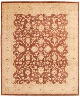 """Hand-knotted Chobi Finest Brown Wool Rug 8'2"""" x 10'0"""""""