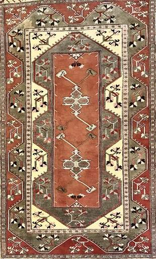 """Hand Knotted Persian Tribal Rug, 9'5"""" x 6'11"""""""