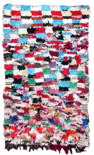 Handmade vintage Moroccan Berber rug 3.9' x 6.5' (118cm