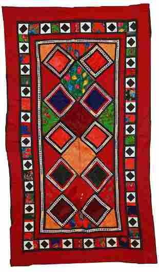 Handmade vintage Uzbek Suzani patchwork 4,2' x 7,4' (