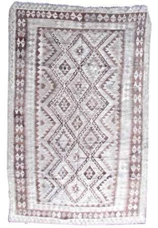 Handmade vintage Afghan kilim 6' x 8.5' (185cm x 260cm)