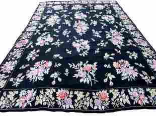 Handmade vintage Indian Stitch flat-weave rug 8.6' x
