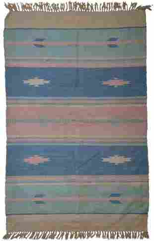 Handmade vintage Indian Dhurri kilim 4' x 6' ( 122cm x