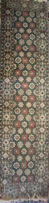 """Vintage Pakistan Master Weaver Rug, Uzbek Design, 10.1"""""""