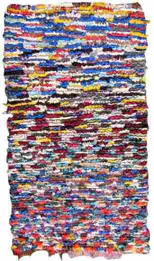Handmade vintage Moroccan Berber rug 2.8' x 5' (86cm x